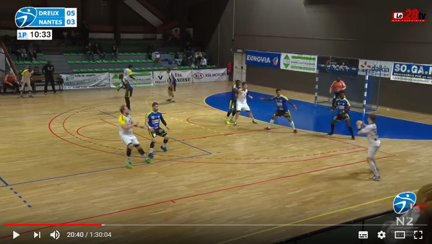 Nationale 2 : Le HBC Nantes tombe face à Dreux AC Handball