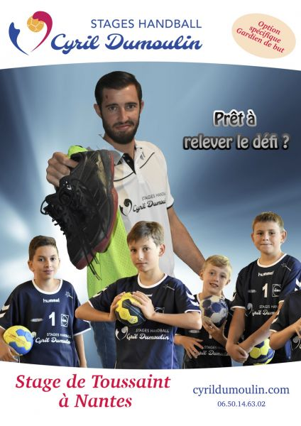 Participez au premier stage handball Cyril Dumoulin